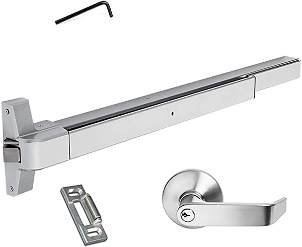 Dynasty Hardware Push Bar Panic Exit Device Aluminum With Exterior Lever