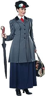 Womens Plus Size English Nanny Mary Poppins Costume Grey