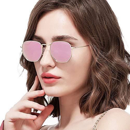 DKee Gafas de Sol Protección UV Unisex HD Ultra-Delgado Ultraligero Gafas De Sol Deportes Al Aire Libre Conducción Marco De Metal Playa Viajes UV400 for Hombres/Mujeres (Color : Pink)