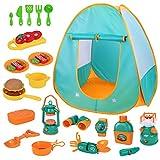 Kinder Spielzelt Baby Camping Toys Set, Pop-Up-Spielzelt mit Camping Spielzeug für Kleinkinder,...