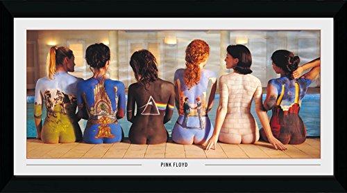 GB eye–Póster de Pink Floyd, Back Catalogue, Enmarcado impresión 50x 100cm, Madera, Varios, 55x 105x 1,8cm