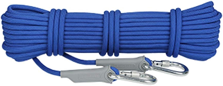 LYM-Rope Kletterseil, Outdoor 12mm Durchmesser Durchmesser Durchmesser Verschleißfeste Felsrettung Bergsteigen Notfall Flucht Sicherheitsschnur (Farbe   Blau, größe   50m) B07P3YJTBX  Moderne Technologie c5933b