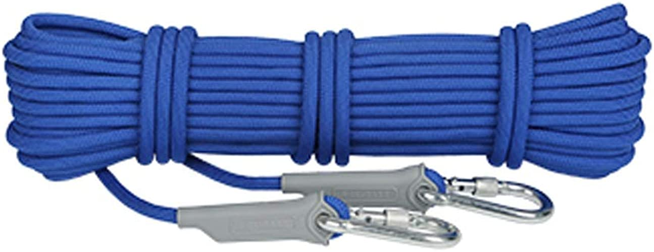 LYM-Rope Corde d'escalade, Cordon De Sécurité Anti-échappeHommest d'urgence pour Le Sauvetage en Montagne Résistant à l'usure d'un Diamètre De 9.5mm (Couleur   Bleu, Taille   40m)