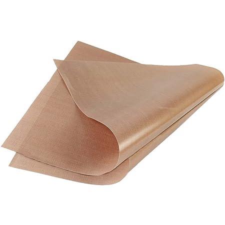 Sincerestore クッキングシート オーブンペーパー 耐熱 耐久 水洗い可能 (グラスファイバー製) クッキングマット (無漂白) 2枚セット