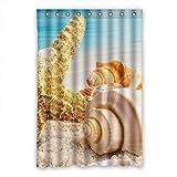 DOUBEE Badezimmer Starfish Wasserdichtes Duschvorhänge SHOWER CURTAIN 120cm x 183cm