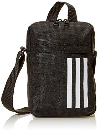 adidas Erwachsene 3 Stripes Organizer M Schultertasche, Black/White, 21 x 15 x 6 cm
