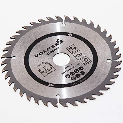 Hartmetall - Kreissägeblätter 140 x 20 mit 16, 18, 24, 30, 40 Zähnen, Reduzierstücke: 16/12,75 mm (40 Zahnanzahl)