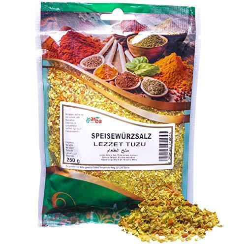 Arba Gewürze - Speisewürzsalz 250g - Gewürzmischung mit Sellerie, Salz, Pfeffer, Knoblauch & Kurkuma, zum Kochen & Würzen, Würzmischung mit Gemüse, Premium-Gewürz (250g)