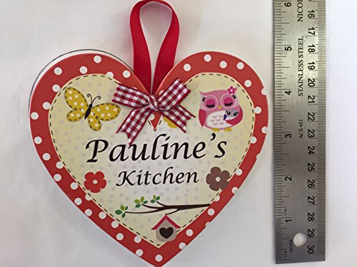 en forme de cœur en bois personnalisé de cuisine cœurs. Pauline de cuisine.