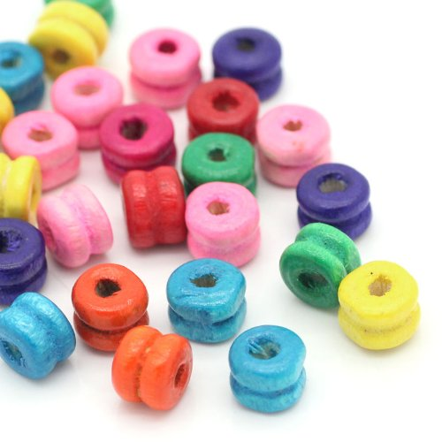 /3,5/mm Agujero SiAura Material 100/Unidades Arce Cuentas de Madera 13/x 14/mm con 2,7/ Rayas para Manualidades