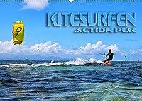 Kitesurfen - Action pur (Wandkalender 2022 DIN A2 quer): Spektakulaere Actionszenen, aufgenommen an traumhaften Surfspots (Monatskalender, 14 Seiten )