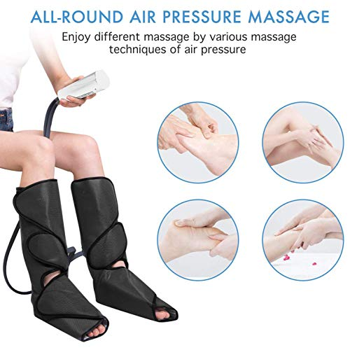 Best Price! Thigh And Calf Massager With Knee Heating, Foot Massager Leg Wraps, Leg Air Massager For...