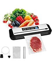 Inkbird INK-VS01 Sous Vide Vacuum Sealer Machine with Starter Kit, Automatic Food Vacuum Sealer, for Food Saver Fresh Preservation, Food & Fruit Vacuum Packer, Dry & Moist Food Modes, Customize Built-In Cutter (Silver, INK-VS01)