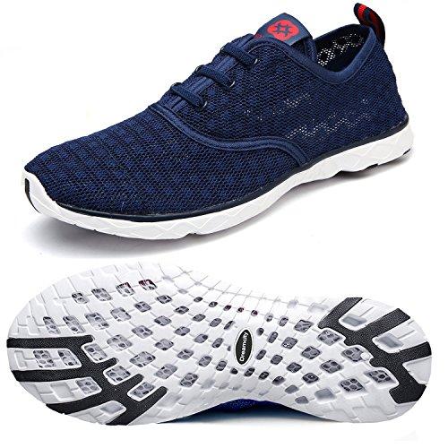 Dreamcity Men's Water Shoes Athletic Sport Lightweight Walking Shoes Blue