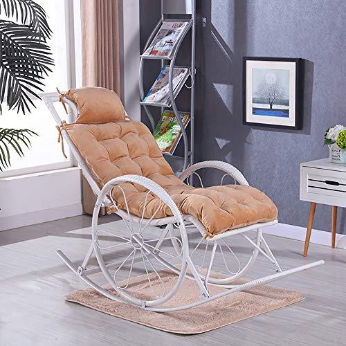 Skyout Auflagen für Gartenliegen, Ersatz Relaxer dick Kissen 125 * 48cm Recamiere-Longue-Auflage, für Sonnenliege Liegestuhl Gartenliege Holzliege Saunaliege (Braun)