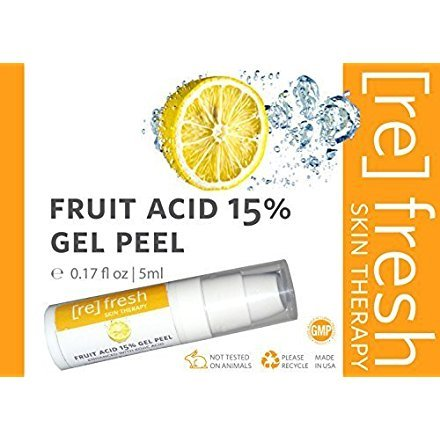 Fruit Acid 15% Gel Peel (Lactic Acid, Glycolic Acid, Kojic Acid) 5ml Small Travel Trial Size