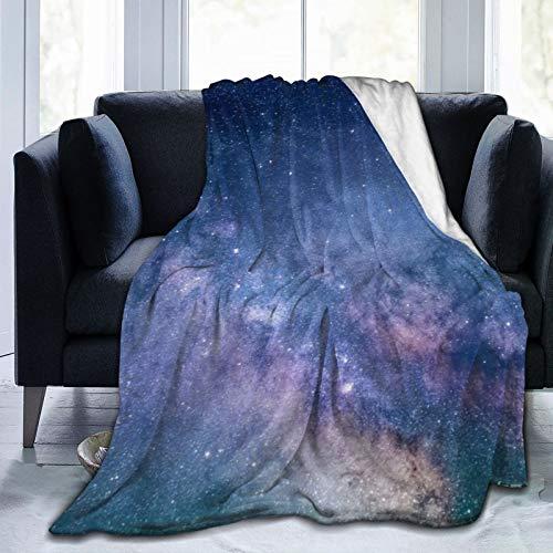 Daisylove Manta ultra suave de microforro polar duradero con estrellas de la vía láctea (cielo estrellado) para cama, sofá, oficina, sala de estar, decoración del hogar, 152 x 122 cm