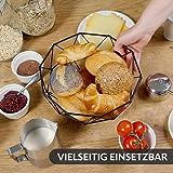 Chefarone Obstschale Metall – dekorativer Obstkorb Vintage Schwarz – Obst Aufbewahrung für mehr Vitamine in Ihrem Alltag (26x26x12cm) - 4