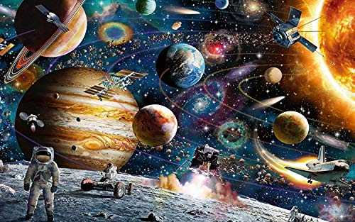 AthlChamp Jigsaw Puzzles for Adults 1000 Pieces, Space Traveller 1000 Piece Jigsaw Puzzles, Home Decor, Educational Games DIY Toys Brain Challenge Puzzle for Kids Children Teenagers Adults
