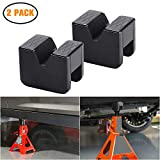 Jack Pad Jack Lift Pad Adapter Tool Adapter Jack Stand for 2-3 Ton Universal Jack Rubber Slotted Frame Stand Rail Pinch welds Protector (2 Pack)