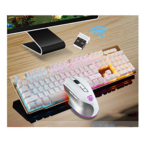 XINKO Wireless Mechanical Gaming Keyboard and Mouse Combo Ultra-Compact Bluetooth Keyboard with 104 Key for Multi-Device Connection Multiple Color