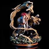 Naruto Anime Character Model 22Cm/8.7' Sand Cloud Sand Storm Gaara Action Figures Static Room Table Decoration Ornaments Handmade Model Favorite Statue,Combat Version