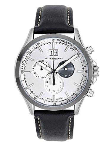 ABELER & SÖHNE Made in Germany Herrenuhr mit Chronograph, Saphirglas und Lederband AS3251