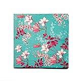 Tovaglioli di carta, 4 confezioni di tovaglioli usa e getta, eleganti con un bel motivo floreale.