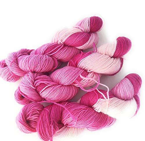 NaRoKnit Sockenwolle handgefärbt 100 g ca 420 m 75% Wolle/25% Polyamid - lila, Purple, violett