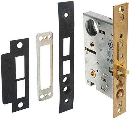 "Baldwin 6375.R Right Handed Entrance, Emergency Egress Mortise Lock with 2-1/2"", Oil Rubbed Bronze"