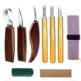 ATNR Kit de herramientas para tallar madera, juego de herramientas para carpintería, juego de herramientas para tallar, para principiantes