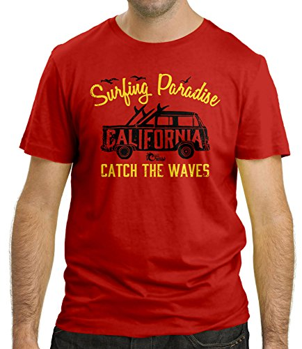 Cressi Sub S.p.A. SURFING PARADISE T-Shirt Homme Rouge FR: XL (Taille Fabricant: XL)