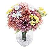 Diese künstlichen Blumen sind zu 99% echten Blumen ähnlich. Ihre Größen, Formen und Körperhaltungen basieren alle auf Blumen in der Natur. Ihre Farben sind auch so angeordnet, dass sie herrlich sind. Es macht dich glücklich, wenn die süßen bunten Blu...