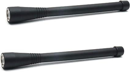6 mm Rosca macho 400-470MHz UHF walkie talkie antena para ICOM F16