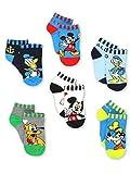 Mickey Mouse Pluto Goofy Donald Duck Toddler 6 Pack Quarter Socks Set (Shoe:...