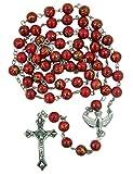Católico confirmación rojo y oro acrílico Rosario con Santa paloma centro de mesa, 16inch