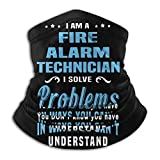 Técnico De Alarma contra Incendios Al Aire Libre Cuello Bufanda,Sin Costura Calentador De Cuello,Viento Polvo Prueba Sombreros,Hombre Mujer Polainas De Cuello