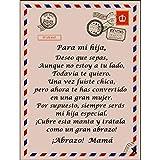 A mi Hija Manta, Manta De Lana para Mi Hija/Hijo, A Mi Hija Carta Manta Manta Personalizada, Mensaje...
