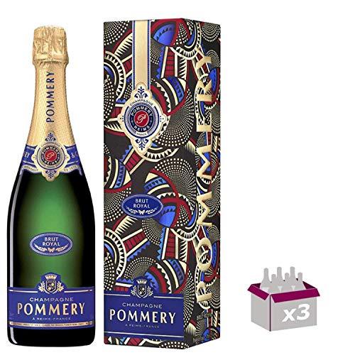 Champagner Pommery - Brut Royal - In 3 * 75cl Geschenkbox