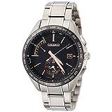 [セイコーウォッチ] 腕時計 ブライツ ソーラー電波 デュアルタイム チタンモデル SAGA243 メンズ シルバー