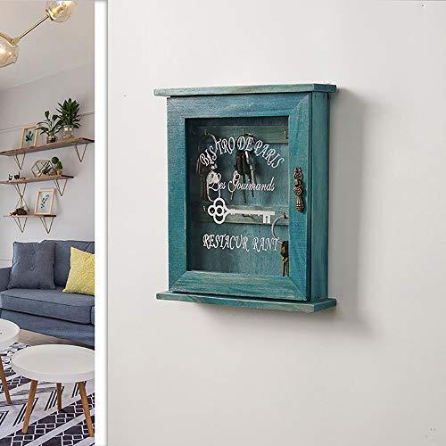 PEXWELL Wooden Key Holder Box Wooden Key Storage Cabinet...
