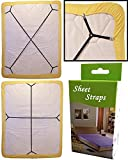 Best Bed Sheet Suspenders - 2pcs/set Sheet Bed Suspenders Adjustable Crisscross Fitted Sheet Review