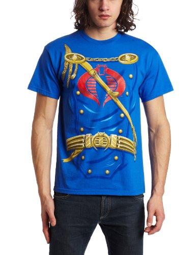 Mad Engine Men's Suit Up T-Shirt, Royal Blue, Large