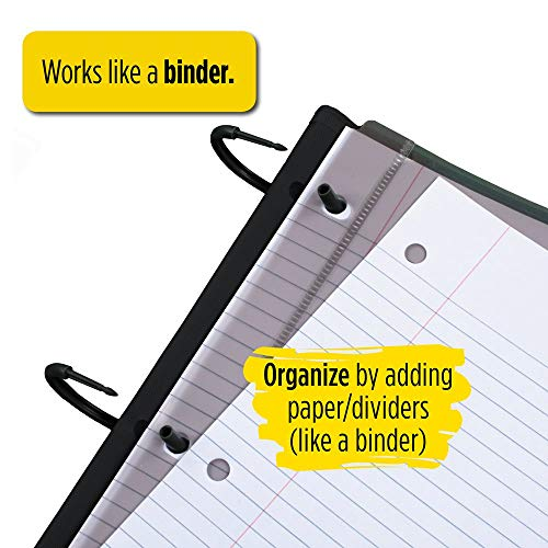 Five Star Flex Hybrid NoteBinder, 1-1/2 Inch Binder with Tabs, Notebook and 3 Ring Binder All-in-One, Green (72401) Photo #9
