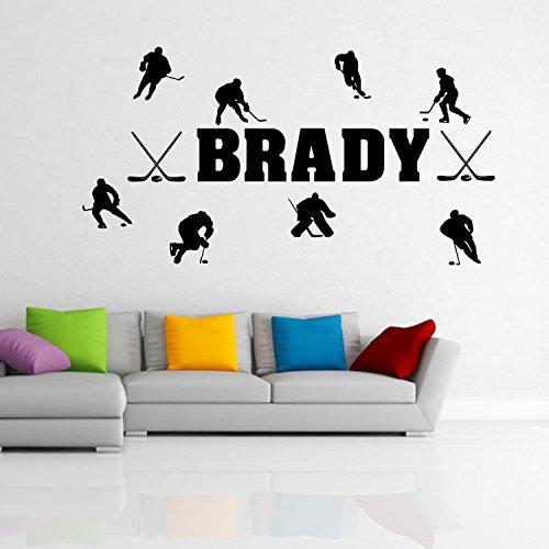 HCCY Kreative Figuren geschnitzt Zimmer der Wall Poster Ice Hockey Aufkleber Wohnzimmer Schlafzimmer Kinder Dekor selbstklebend Papier Poster 109*58 cm entfernen