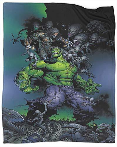 Manta ligera y acogedora de superhéroe Hulk para el sofá de la cama, manta ligera, tamaño 40 x 50 pulgadas