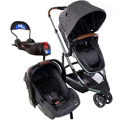 Carrinho de Bebê Travel System Infanti Trio Sky Grey Vintage