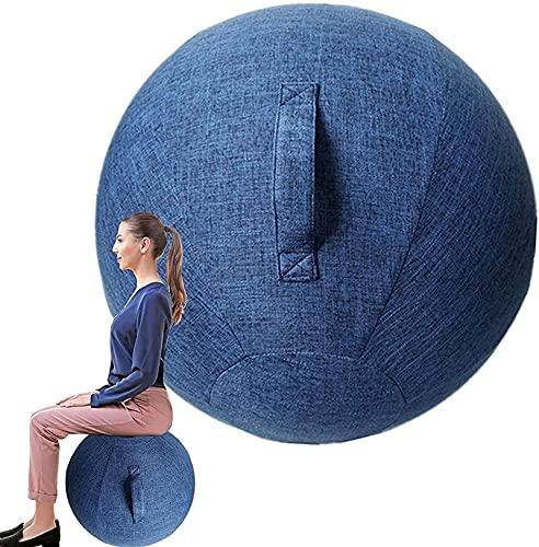 Nuiik-C22x Silla de Bola para Oficina, Funda de Silla de Bola de Yoga de Equilibrio de Estabilidad de 55/65/75 cm para Entrenamiento Muscular en casa Fitness (Color : Blue, Talla : 75cm)