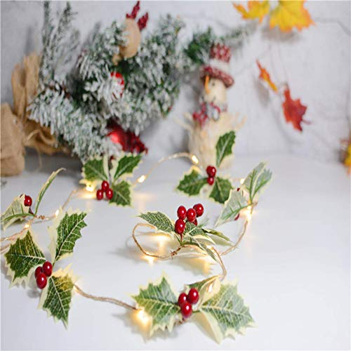 Fruit Pile Garland Wreath​​LED Fairy Tale String Lights Christmas Tree Party Wedding Interior Decoration Garden Pine Cones