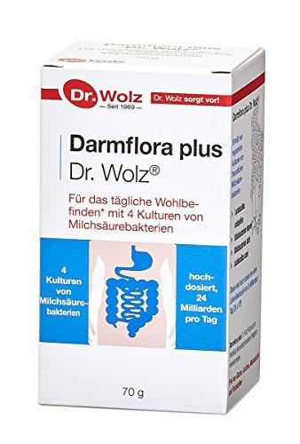Darmflora Plus Pulver Dr. Wolz |Hohe Qualität |widerstandsfähige, selektierte Milchsäurebakterien + Inulin | 70 g